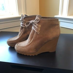 Leather Upper Wedges